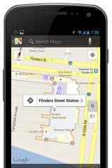 Google's indoor map of Flinders Street Station, Melbourne.