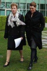 Greens senators Christine Milne and Sarah Hanson-Young.