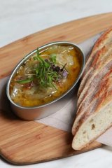 Green lentil dhal from the Moat.