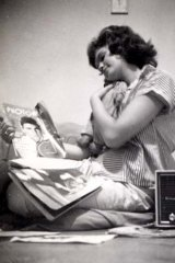 Teenager in love … Helene Martin was 16, pictured with her rag doll, when she saw Ricky Nelson in 1960.