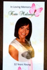 Kate Malonyay: hers was a life full of promise.