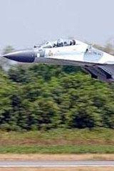 Secret air defence asset … a Sukhoi SU-30MK2 jet fighter.