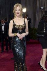 Close friends: Nicole Kidman in a L'Wren Scott gown at the 2013 Oscars.