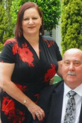 Retired Detective Inspector John Kapetanovski and his wife Margaret Lewis, December 2011.