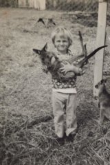 True roo … Holmes as a child.