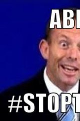 Tony Abbott digitally altered image on Twitter