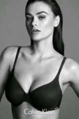 An ad for Calvin Klein featuring size 10 model Myla Dalbesio - the company has been asked how 'plus sized' Dalbesio really is.