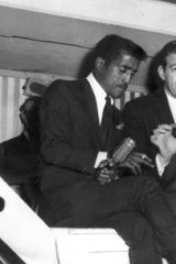 Those were the days ... Norm Erskine, a famous crooner in the area during the '50s and '60s, with Sammy Davis jnr.