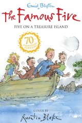 One of <em>The Famous Five</em> 70th anniversary covers.