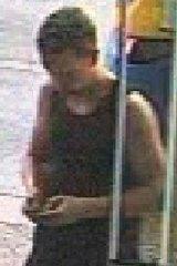 Benjamin James Milward captured on CCTV footage at midday last Thursday.