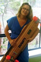 Gravity girl ... Sue Wickenden.