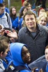 Recipe for success ... British celebrity chef Jamie Oliver.