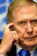 Former judge Michael Kirby at the UN.