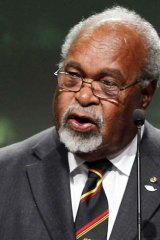 Former New Guinean Prime Minister Sir Michael Somare.