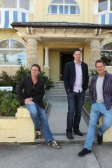 Convivial: Paul Laurenson, Martin Turner and Grant McElvenie.