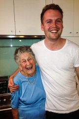 Much-loved: Kurt Steel with his 93-year-old grandmother, Helen Steel.