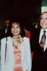 Helen Liu with John Howard and Labor MP Joel Fitzgibbon.