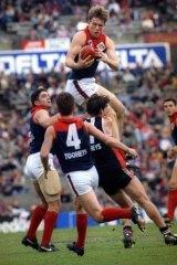 Schwarz against St Kilda in 1994.