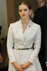 UN Women Goodwill Ambassador Emma Watson attends the HeForShe campaign launch.