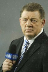 """""""We'll be right mate. Those things hardly ever come down"""": Phil Gould's comforting words to fellow commentator Ray Warren."""
