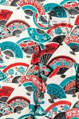 Emma Hack's <i>Fans</i>, which features a Florence Broadhurst print.
