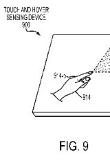 """Apple's patent for a """"touch and hover display"""""""