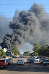 The thick smoke from the Carole Park fire.