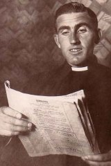 McGlade checking Leaving Certificate results in 1942.
