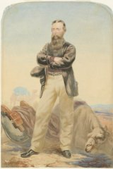 Portrait of Robert O'Hara Burke, circa 1860, watercolour; William Strutt. National Library of Australia.