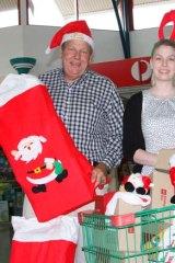 Short-term hire: Bob Baldwin and his daughter Samantha.