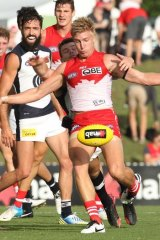 Shane Biggs is set to make his AFL debut for Sydney Swans against Richmond at the SCG.