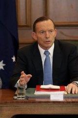 War Memorial threat: Prime Minister Tony Abbott on Friday.