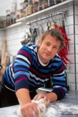 Obesity fight ... Jamie Oliver.