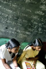 Students in a public school in Chennai, India.
