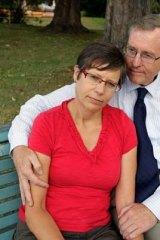 Jock Palfreeman's father, Simon and stepmother, Helen.