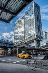 The Standard High Line hotel .... big glass windows make it popular with exhibitionists.