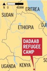 The Dadaab refugee camp in north-eastern Kenya.