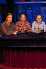 <i>The Panel</i>: Glenn Robbins, Rob Sitch, Tom Gleisner, Kate Longbroek and Santo Cilauro.