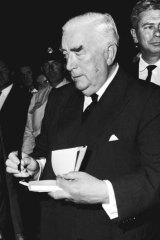 Prime Minister Robert Menzies on 15 November, 1963.