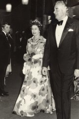 "Queen Elzabeth with Gough Whitlam attending Australian Ballet's ""Carmen"" in 1973."