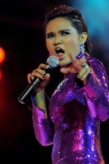 With her flamboyant wardrobe and a diva's voice, Phyu Phyu Kyaw Thein is seen as Burma's Lady Gaga.