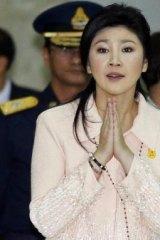 Under pressure ... Thailand's Prime Minister Yingluck Shinawatra.