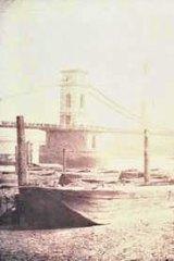 William Henry Fox Talbot. The Hungerford Suspension Bridge. 1842.