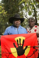 Dianne Stokes and Mark Chungaloo oppose the plans for a nuclear waste dump up in Muckaty NT.