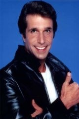 No longer relevant ... Henry Winkler as Fonzie in <em>Happy Days</em>.