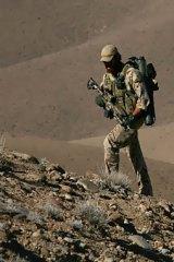 An Australian soldier on patrol in Oruzgan, Afghanistan.