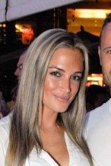 Happy times: Reeva Steenkamp with boyfriend Oscar Pistorius in January 2013, only three weeks before her death.