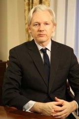 Skyped ... WikiLeaks founder Julian Assange.