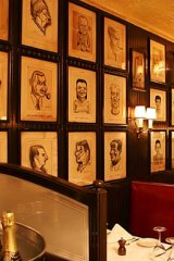 Inside the Minetta Tavern.