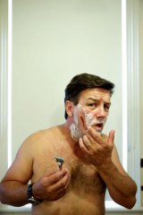 Close shave: Comedian Lawrence Mooney believes most men suffer from self-delusion.